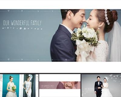 AE模板 简约唯美 爱情回忆记录婚礼迎宾开场电子相册婚纱照视频